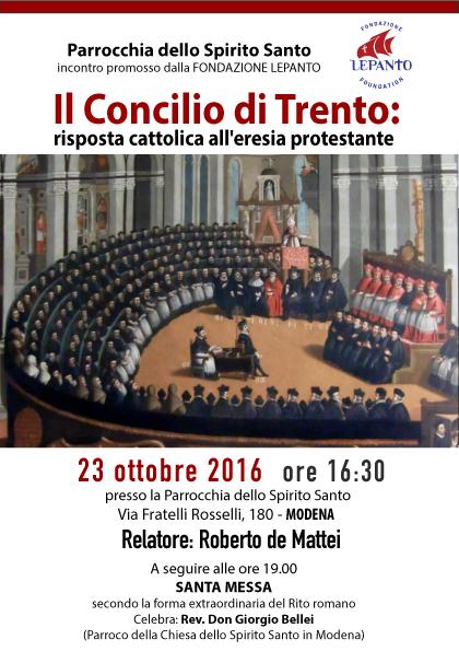 Conferenza a Modena del prof. Roberto de Mattei